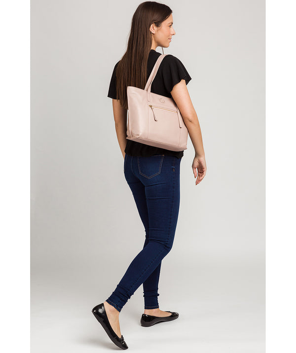 'Skye' Blush Pink Leather Tote Bag Pure Luxuries London