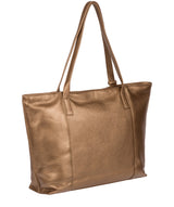 'Skye' Bronze Gold Leather Tote Bag image 3