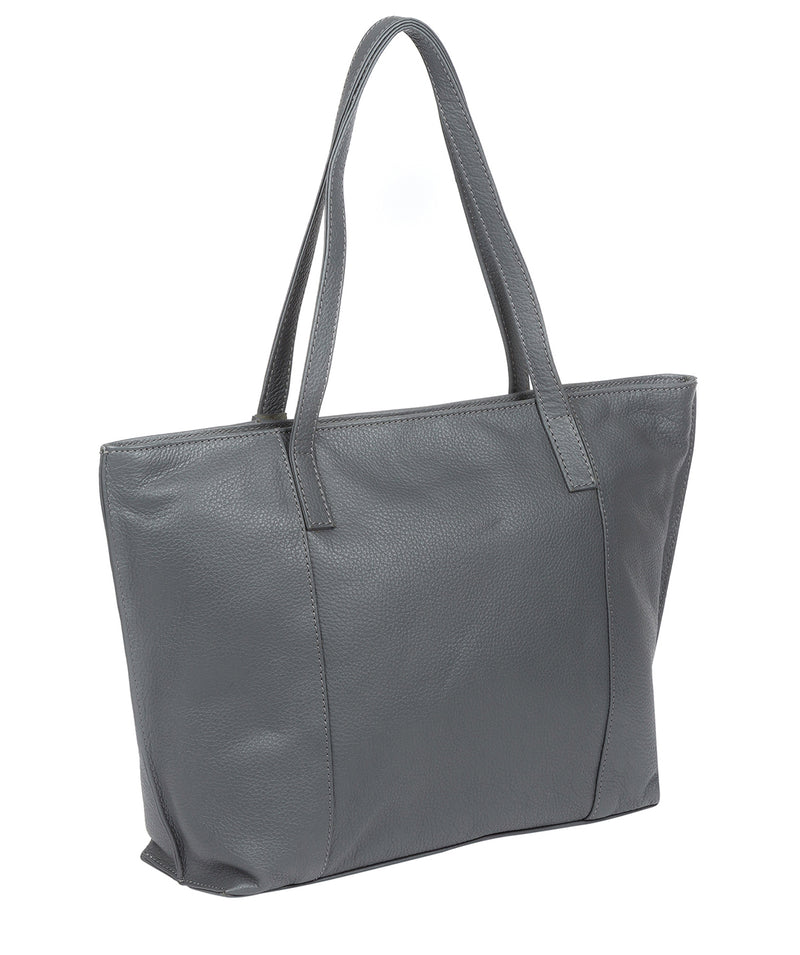 'Skye' Grey Leather Tote Bag Pure Luxuries London