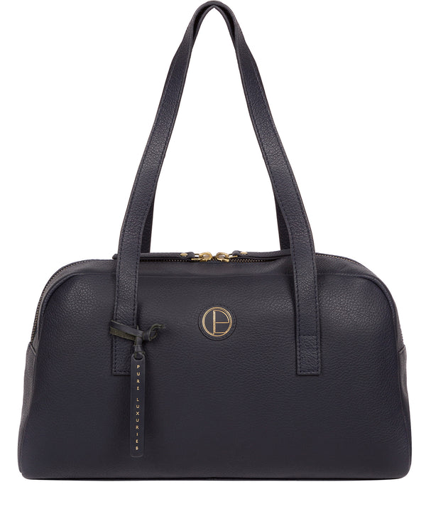 'Pitunia' Navy Leather Handbag image 1
