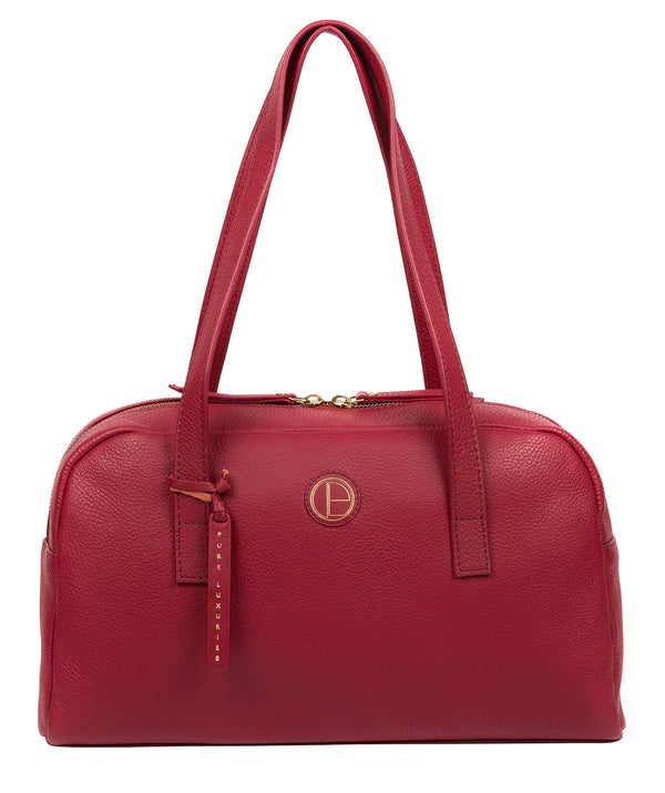 'Pitunia' Red Leather Handbag image 1