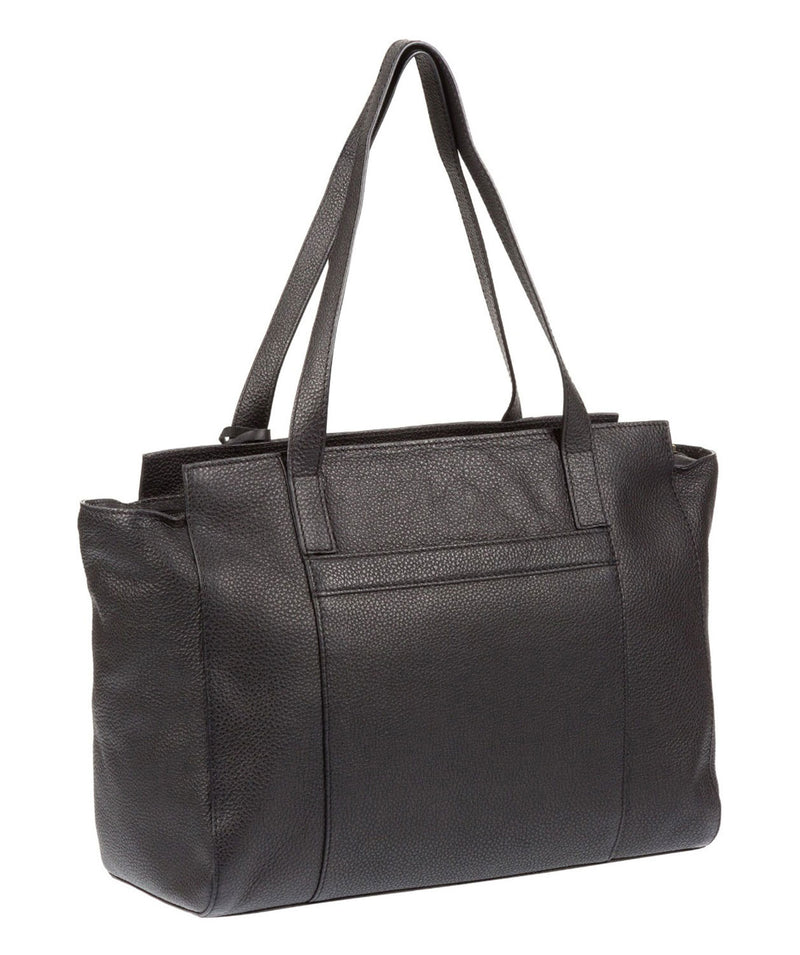 'Dusk' Black Leather Handbag
