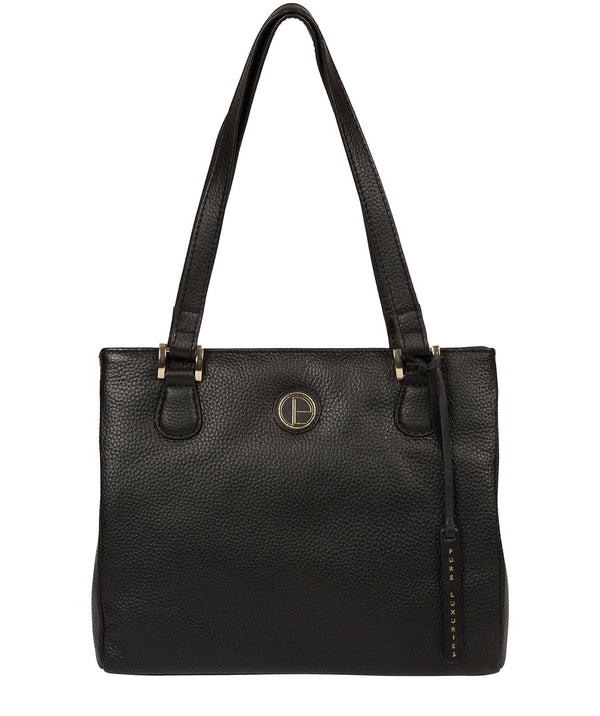 'Milana' Black Leather Handbag image 1