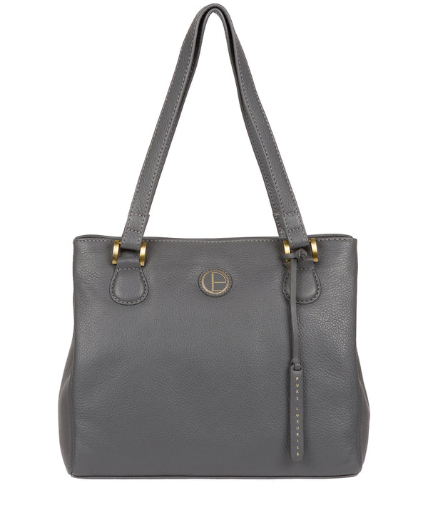 'Milana' Grey Leather Handbag image 1