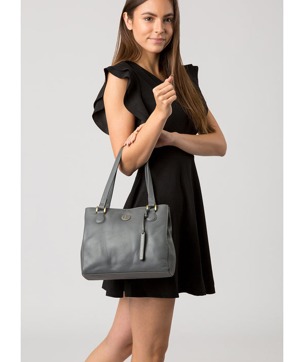 'Milana' Grey Leather Handbag image 2