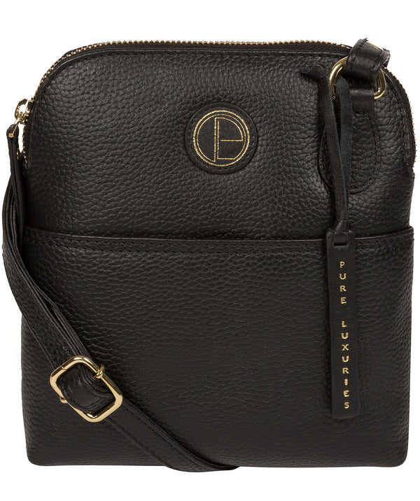 'Orsola' Black Leather Cross Body Bag image 1