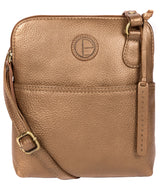 'Orsola' Bronze Gold Leather Cross Body Bag image 1