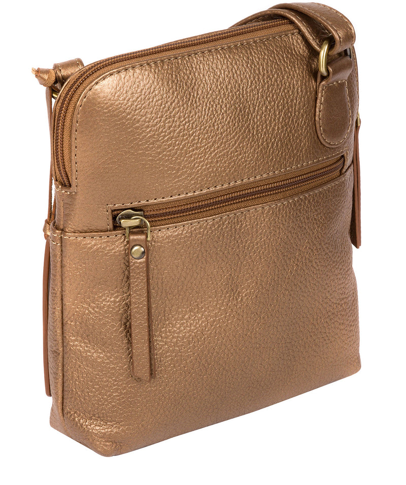 'Orsola' Bronze Gold Leather Cross Body Bag image 3