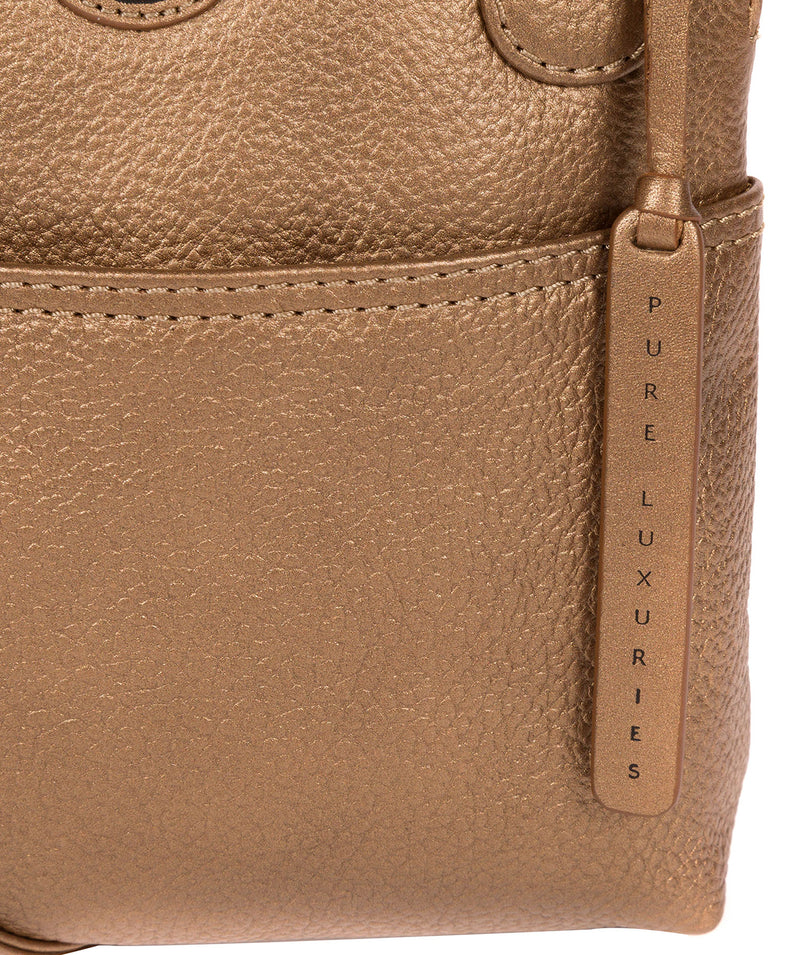 'Orsola' Bronze Gold Leather Cross Body Bag image 5