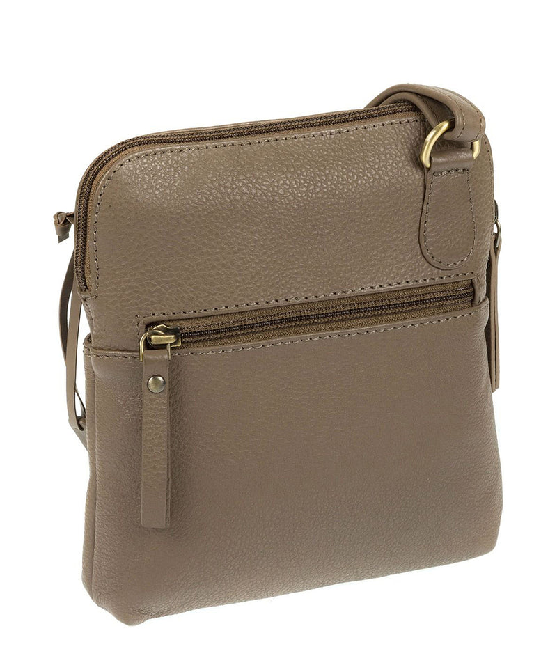'Orsola' Taupe Fine Leather Cross-Body Bag