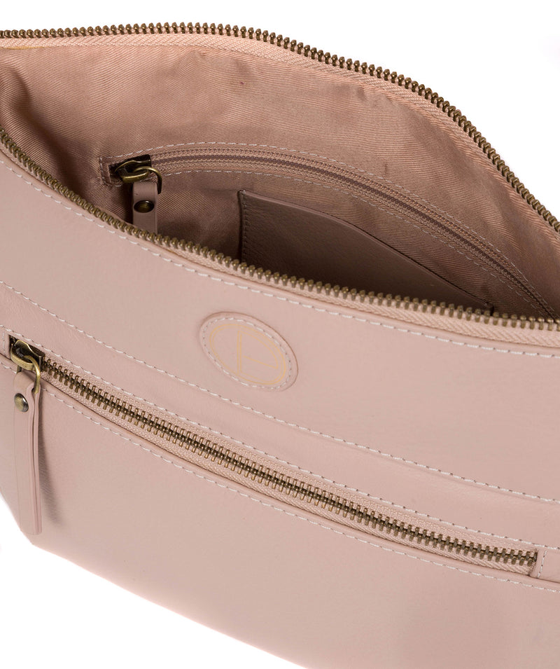 'Serenity' Blush Pink Leather Cross Body Bag image 4