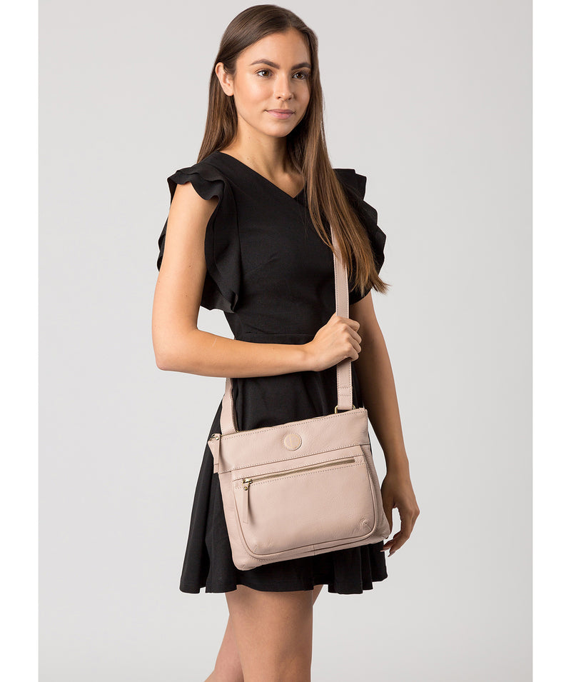 'Serenity' Blush Pink Leather Cross Body Bag image 2
