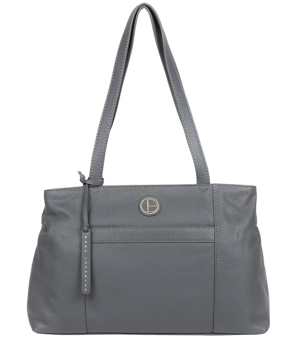 'Mist' Grey Leather Handbag image 1