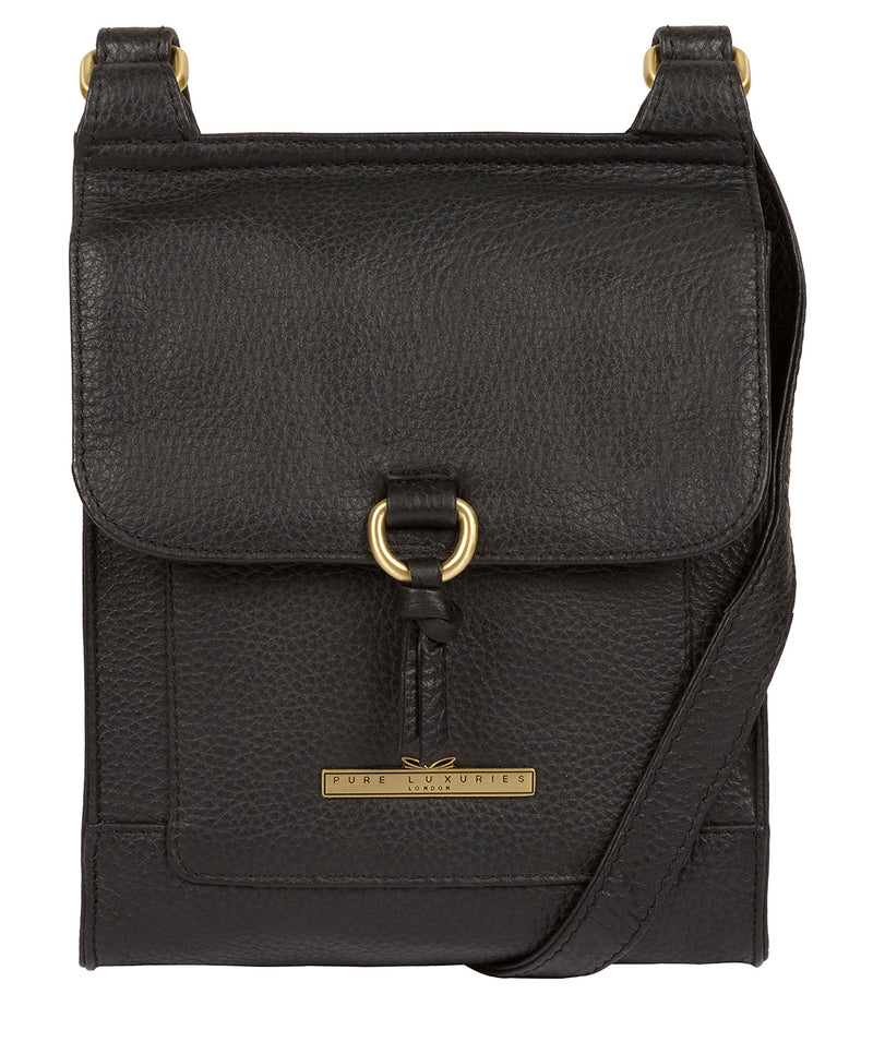'Mabel' Black Leather Cross Body Bag image 1