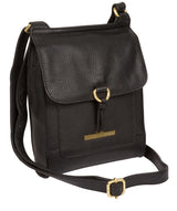 'Mabel' Black Leather Cross Body Bag image 3
