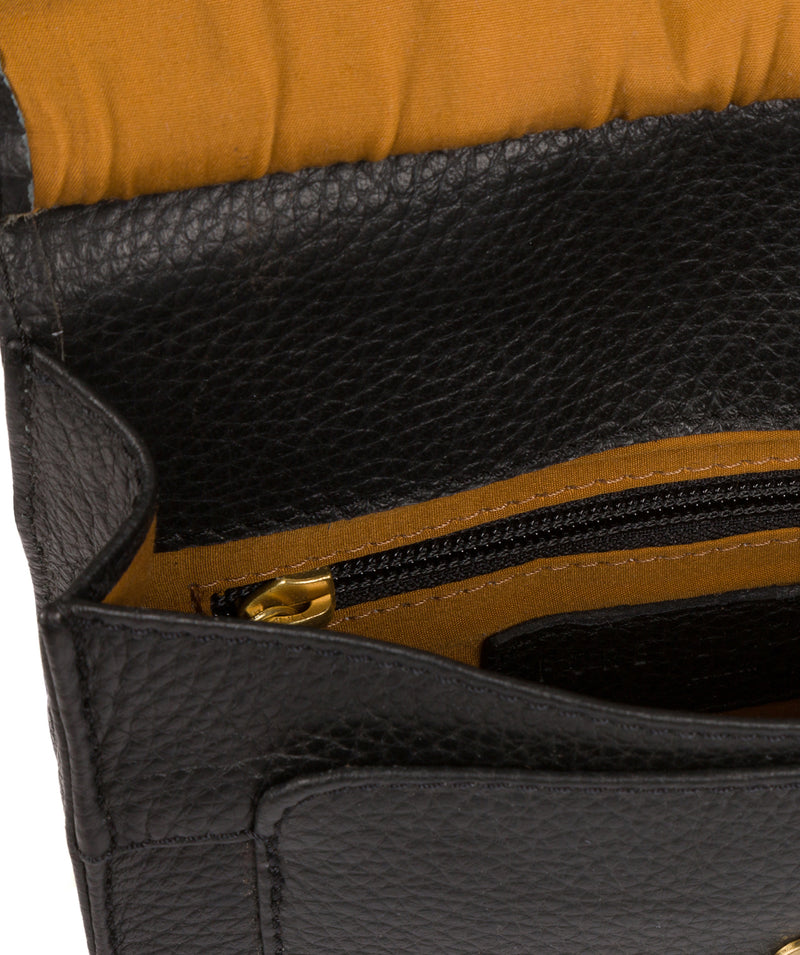 'Mabel' Black Leather Cross Body Bag image 4