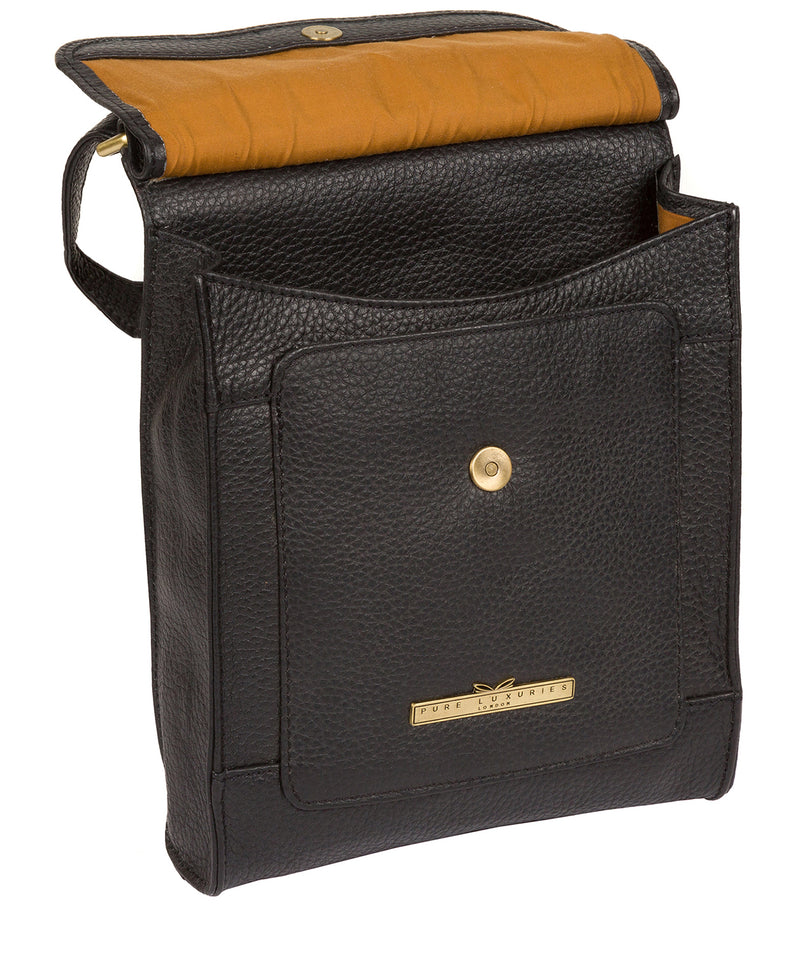 'Mabel' Black Leather Cross Body Bag image 5