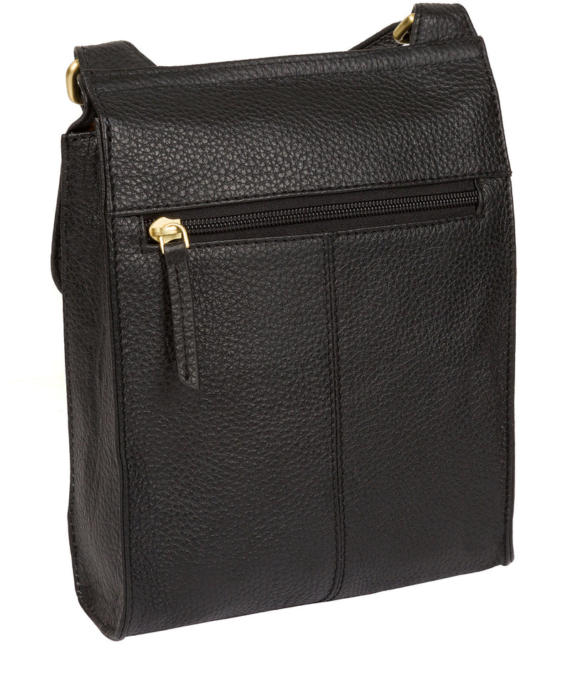 'Mabel' Black Leather Cross Body Bag image 7
