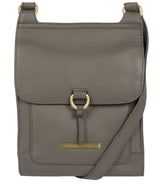 'Mabel' Grey Leather Cross Body Bag image 1