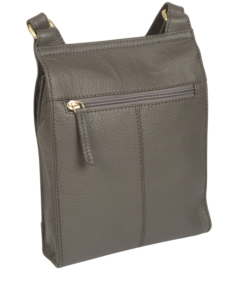 'Mabel' Grey Leather Cross Body Bag image 5