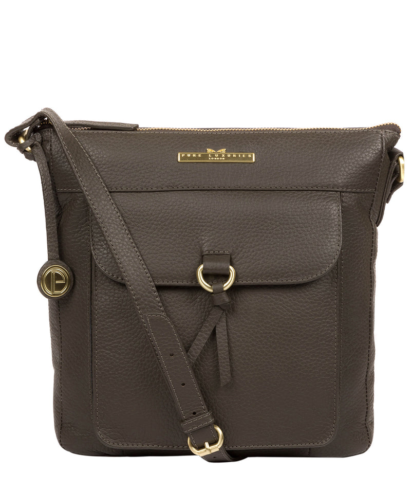 'Caroline' Olive Leather Cross Body Bag image 1