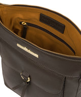 'Caroline' Olive Leather Cross Body Bag image 4