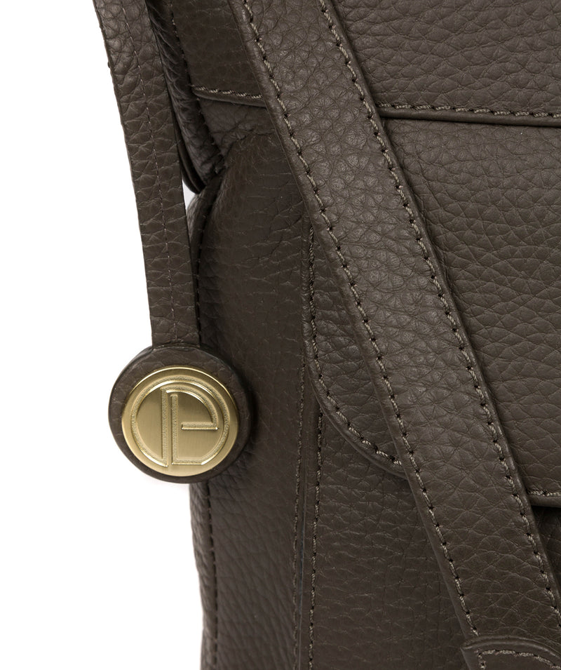 'Caroline' Olive Leather Cross Body Bag image 6