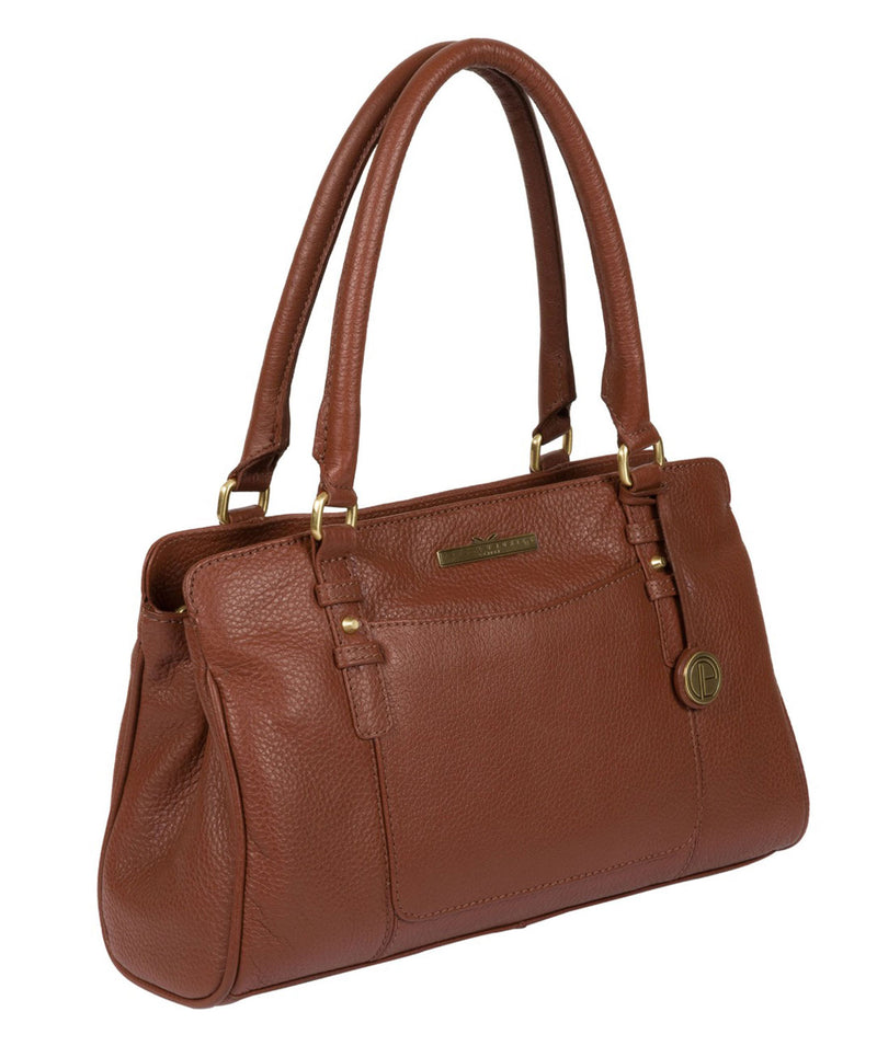 'Lettie' Dark Tan Quality Leather Handbag