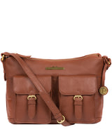 'Natasha' Dark Tan Leather Shoulder Bag image 1