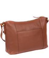 'Natasha' Dark Tan Leather Shoulder Bag image 5