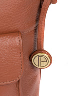 'Natasha' Dark Tan Leather Shoulder Bag image 6