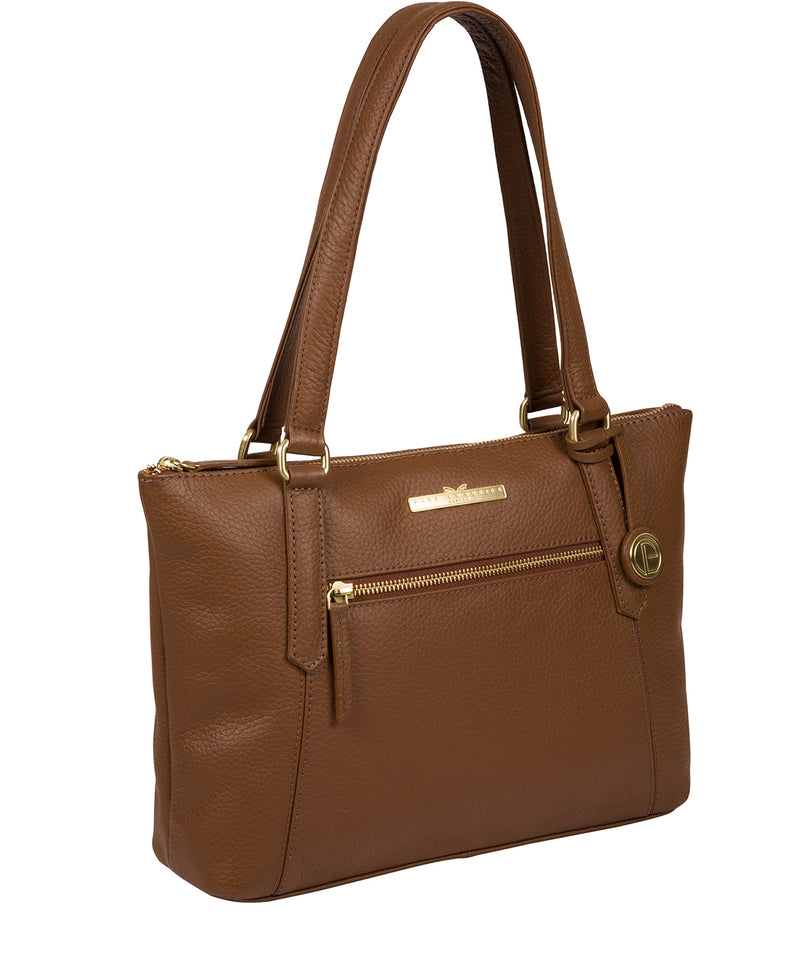 'Laurel' Dark Tan Leather Handbag Pure Luxuries London