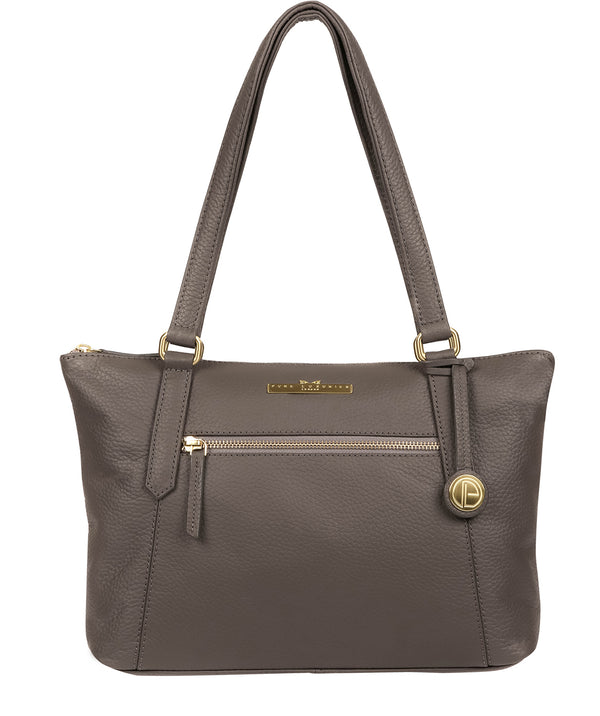 'Laurel' Grey Leather Handbag image 1