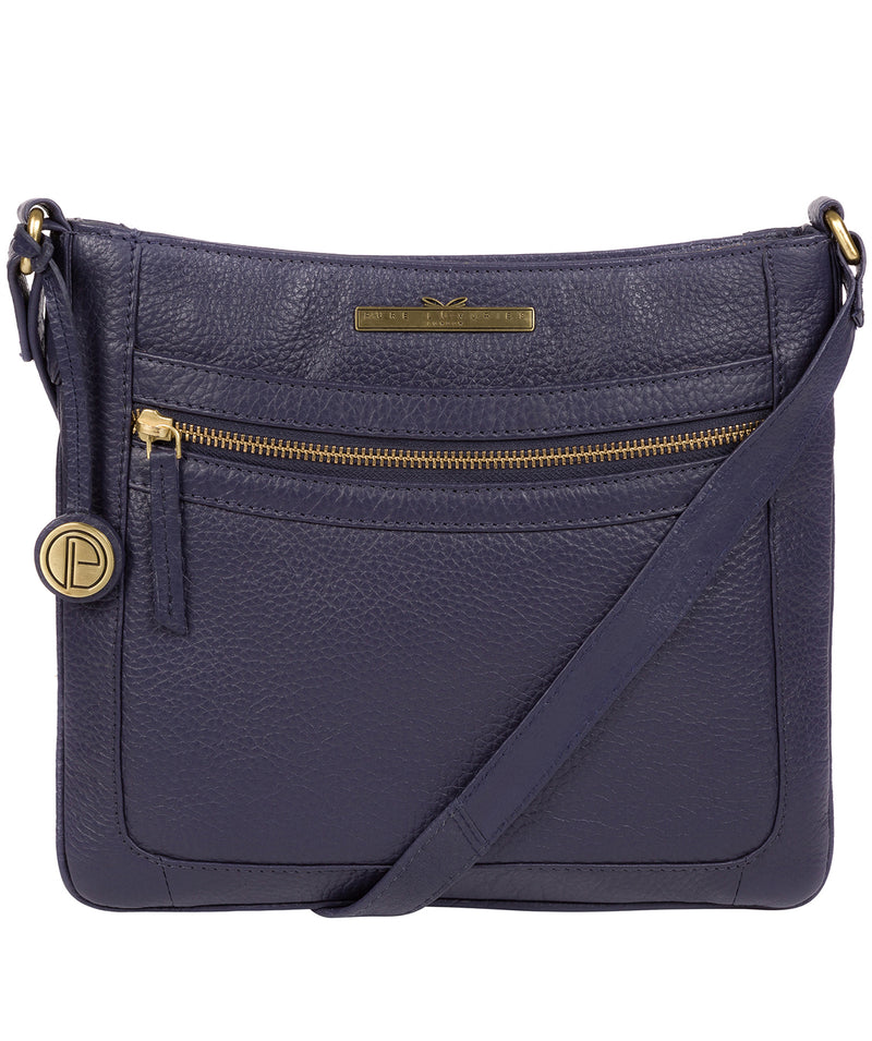 'Lily' Denim Leather Cross Body Bag image 1