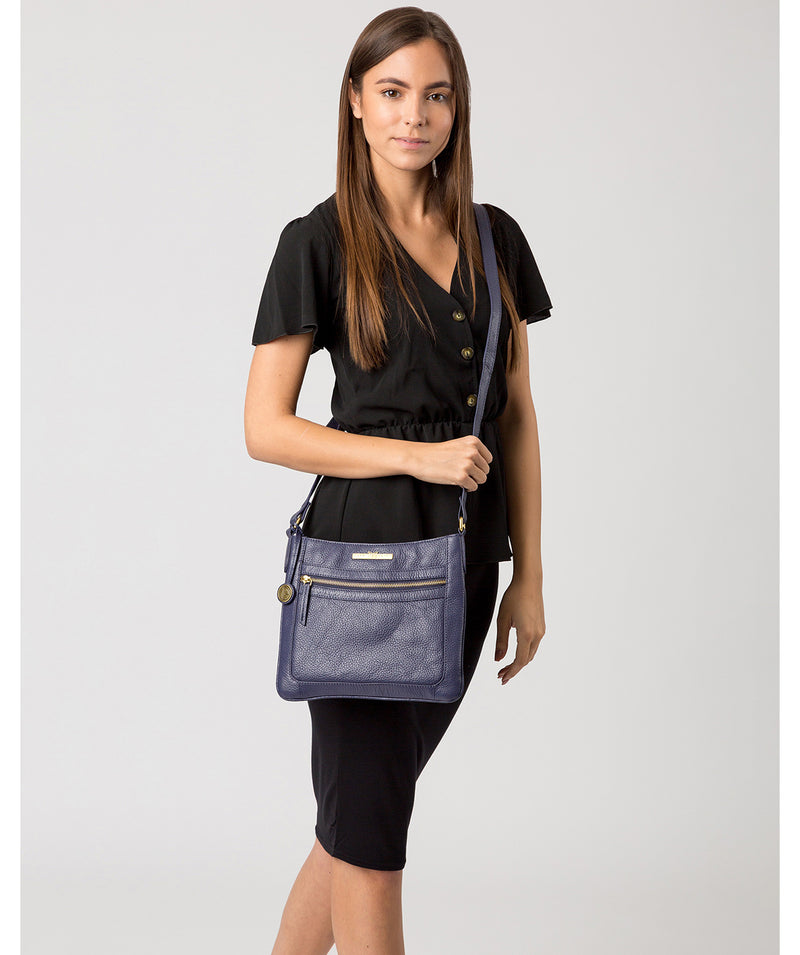 'Lily' Denim Leather Cross Body Bag image 2