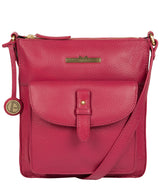 'Kaede' Berry Leather Cross Body Bag image 1