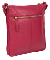 'Kaede' Berry Leather Cross Body Bag Pure Luxuries London