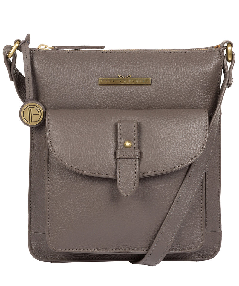 'Kaede' Grey Leather Cross Body Bag image 1