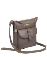 'Kaede' Grey Leather Cross Body Bag image 3