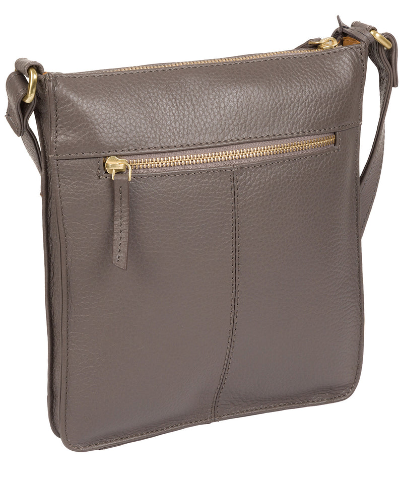 'Kaede' Grey Leather Cross Body Bag image 4