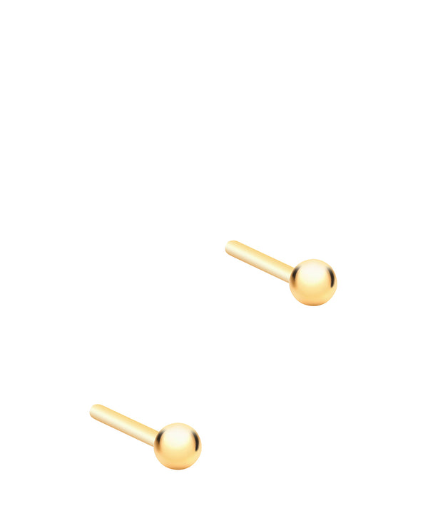 Gift Packaged 'Zulema' 18ct Yellow Gold Plated 925 Silver Ball Stud Earrings