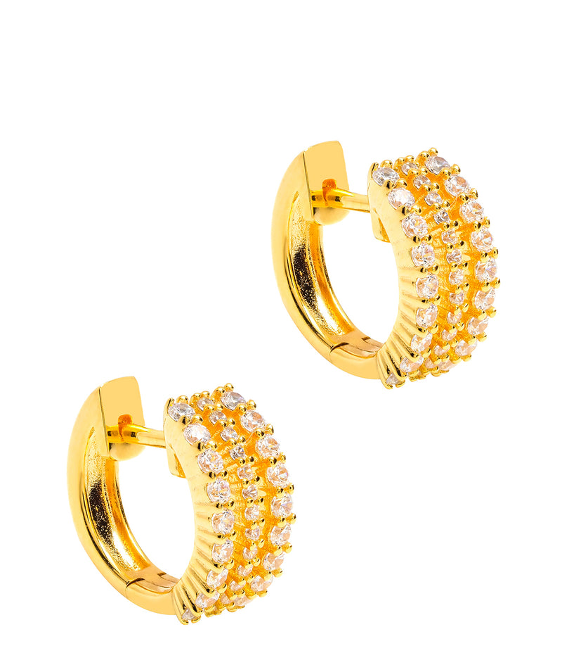 Gift Packaged 'Polaris' 18ct Yellow Gold Plated 925 Silver & Cubic Zirconia Earrings