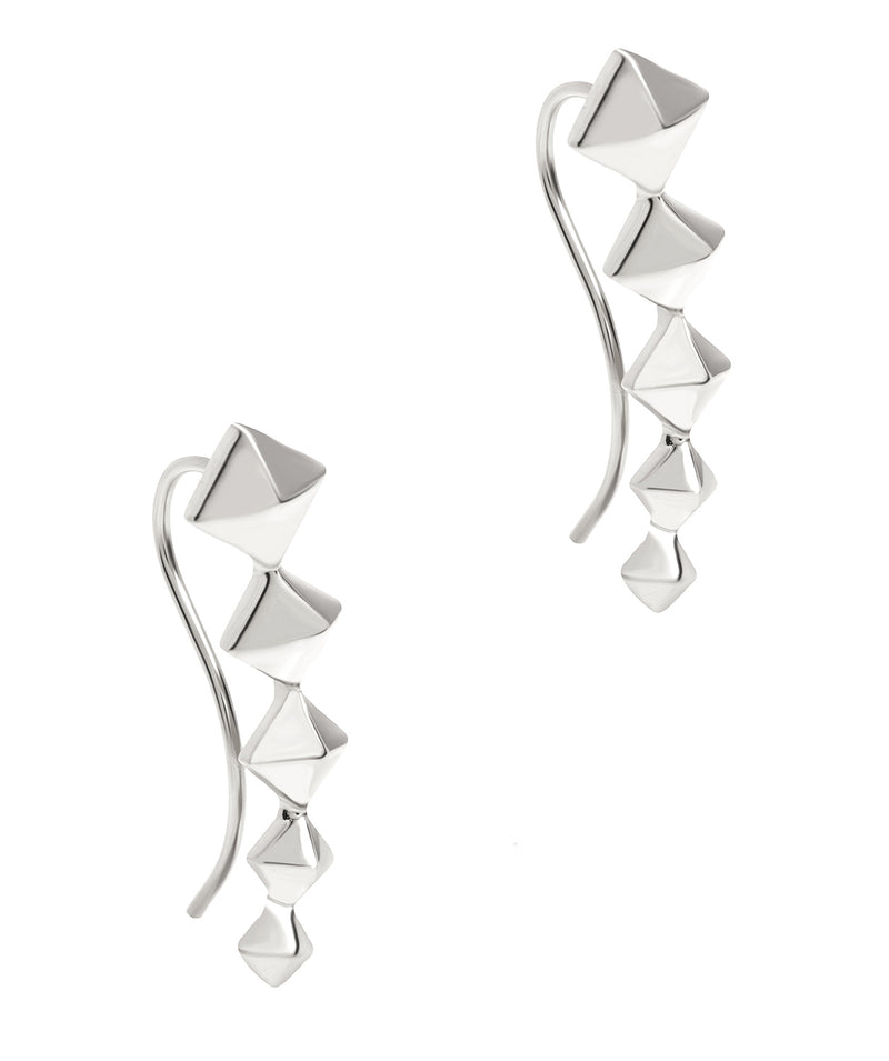 Gift Packaged 'Sirino' 925 Silver Diamond Design Earrings