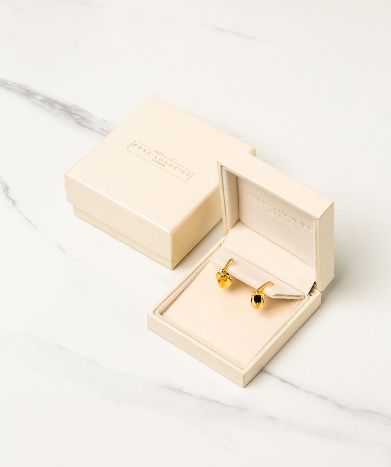 Gift Packaged 'Galilean' 18ct Yellow Gold Plated 925 Heart Drop Earrings