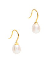Gift Packaged 'Cadiz' 18ct Yellow Gold Plated 925 Silver & Freshwater Pearl Drop Earrings