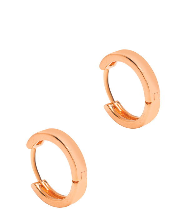 Gift Packaged 'Alura' 18ct Rose Gold Plated 925 Silver Minimalist Hoop Earrings