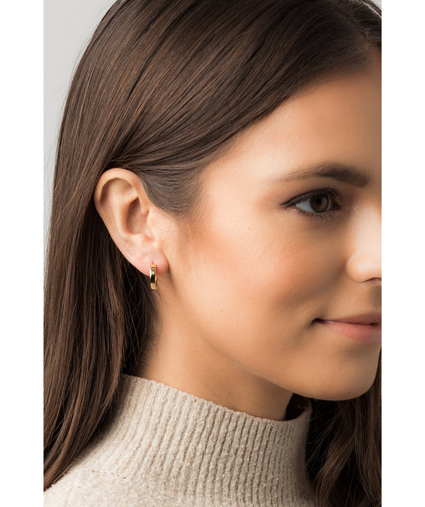 Gift Packaged 'Alura' 18ct Yellow Gold Plated 925 Silver Minimalist Hoop Earrings