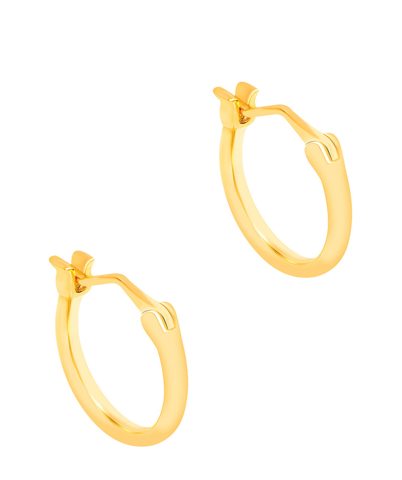 Gift Packaged 'Noir' 18ct Yellow Gold Plated 925 Silver Hoop Earrings