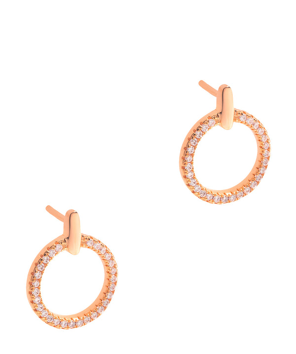 Gift Packaged 'Hervey' 18ct Rose Gold Plated 925 Silver & Cubic Zirconia Earrings