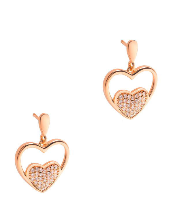 Gift Packaged 'Garcia' 18ct Rose Gold Plated 925 Silver & Cubic Zirconia Earrings